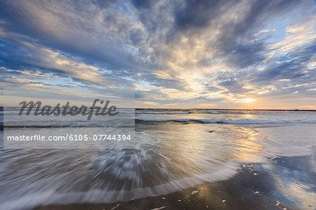 Sunrise on Fred Benson Town Beach, Block Island, Rhode Island, USA