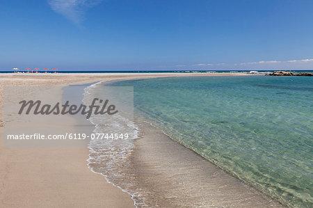 Beach of Frangokastello, Chania, South Crete, Crete, Greek Islands, Greece, Europe