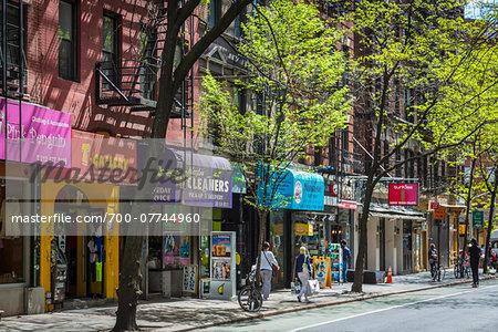 Storefronts on MacDougal Street, Greenwich Village, New York City, New York, USA