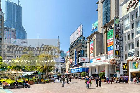 Major Pedestrian and Shopping Street, Nanjing Road, Nanjing Lu, Shanghai, Shanghai Shi, Zhonghua, China