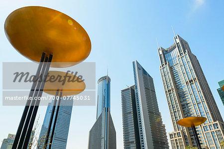 Lujiazui financial district, Mingzhu Park, Pudong, Shanghai, Shanghai Shi, Zhonghua, China