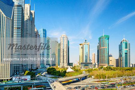 Lujiazui financial district, Pudong, Shanghai, Shanghai Shi, Zhonghua, China
