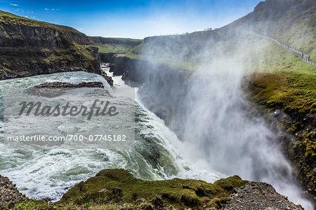 Gullfoss Waterfall, Southwest Iceland, Iceland