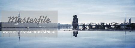 Beautiful view of Riga city, Latvia