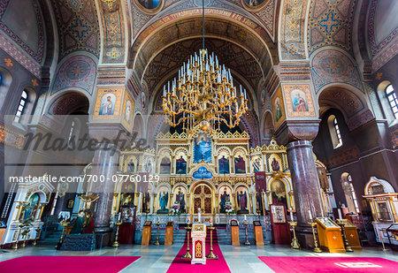 Interior view of altar, Uspenski Cathedral, Helsinki, Finland
