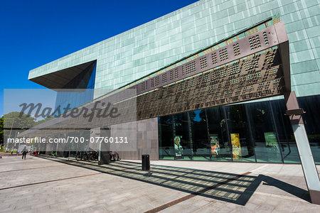 Entrance to the Helsinki Music Centre, Helsinki, Finland