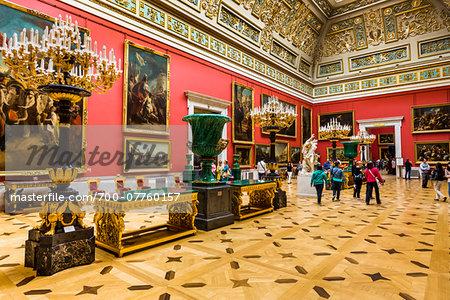 Malachite Room, The Hermitage Museum, St. Petersburg, Russia, St. Petersburg, Russia