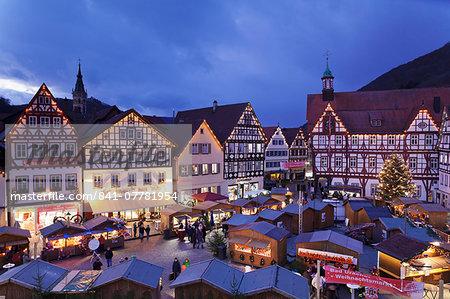 Christmas Fair, Bad Urach, Swabian Alb, Baden Wurttemberg, Germany, Europe