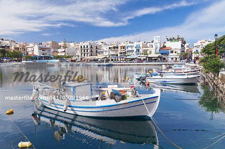 Voulismeni Lake, Agios Nikolaos, Crete, Greek Islands, Greece, Europe