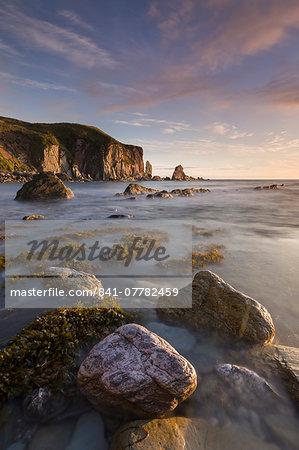 Bantham seashore on an incoming tide, South Hams, Devon, England, United Kingdom, Europe