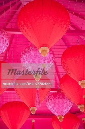 Chinese New Year lanterns, Kowloon Bay, Kowloon, Hong Kong, China, Asia