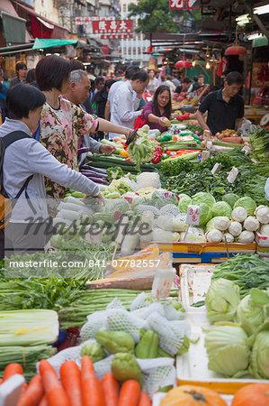 Vegetable market, Yau Ma Tei, Kowloon, Hong Kong, China, Asia