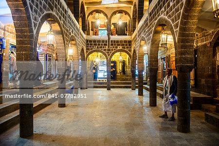 Old Caravanserai in the Old Town, UNESCO World Heritage Site, Sanaa, Yemen, Middle East