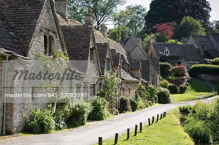 Arlington Row, Bibury, Cotswolds, Gloucestershire, England, United Kingdom, Europe