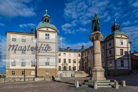 Wrangel Palace with Statue of Birger Jarl, Birger Jarls Square, Riddarholmen, Stockholm, Sweden