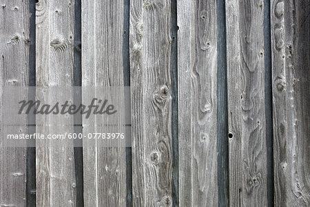 Close-up of Weathered Wooden Wall, Bregenz, Vorarlberg, Austria