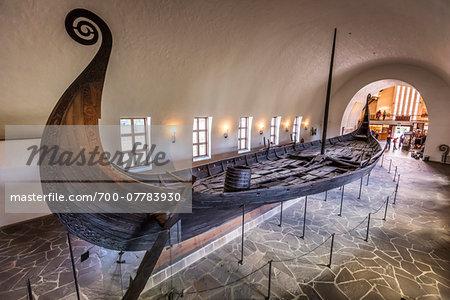 Oseberg Ship at Viking Ship Museum, Bygdoy, Oslo, Norway