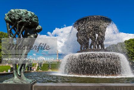 Fountain, Gustav Vigeland Installation in Frogner Park, Oslo, Norway