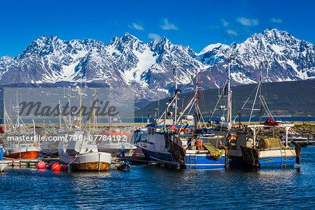 Fishing Port of Oldervik near Tromso, Norway