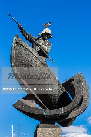 Arctic Hunter Monument (Fangstmonument), Tromso, Norway