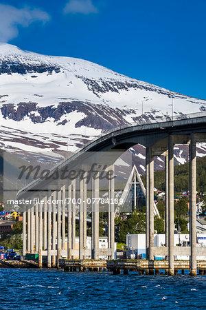 Tromso Bridge over Tromsoysundet, Tromso, Troms, Norway