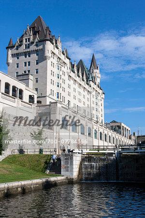Rideau Canal by Chateau Laurier, Ottawa, Ontario, Canada