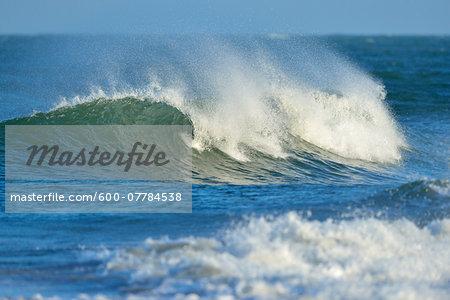Wave breaking in North Sea, Atlantic Ocean, Helgoland, Germany
