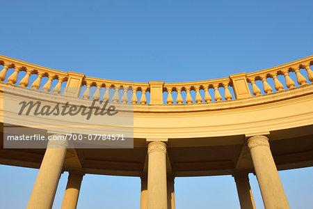 Balustrade at Schwerin Castle, Schwerin, Western Pomerania, Mecklenburg-Vorpommern, Germany
