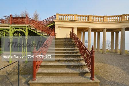 Staircase at Schwerin Castle, Schwerin, Western Pomerania, Mecklenburg-Vorpommern, Germany