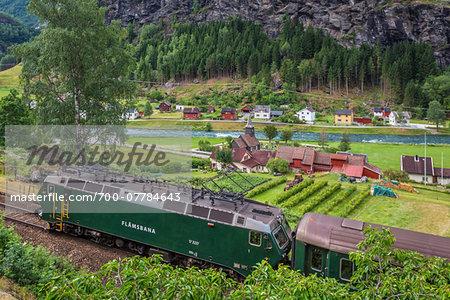 Flam Railway, Flam, Aurland, Sogn og Fjordane, Norway