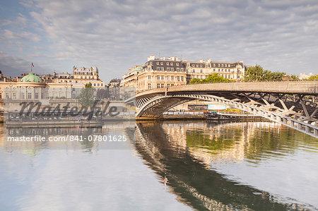 The Passerelle Leopold-Sedar-Senghor, formerly known as Passerelle Solferino (Pont de Solferino), a footbridge over the River Seine in the 7th arrondissement of Paris, France, Europe