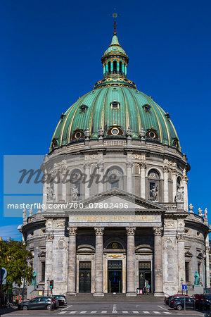 Frederik's Church (known as The Marble Church), Frederiksstaden, Copenhagen, Denmark