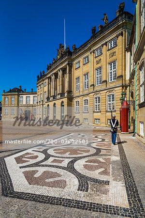 Amalienborg Palace, Amalienborg Palace Square, Copenhagen, Frederiksstaden, Denmark
