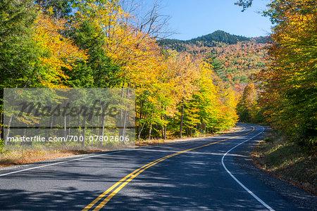 Scenic route in autumn, White Mountains, New Hampsire, USA