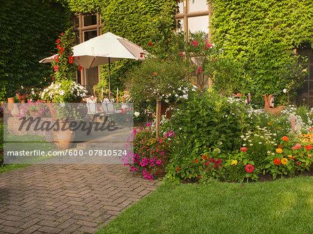 Private Garden and Patio of a Home, Toronto, Ontario, Canada
