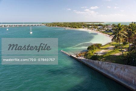 Scenic overview of Bahia Honda Key, Florida Keys, USA