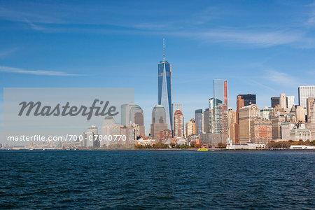 Skyline of Manhattan with One World Trade Center building, New York City, New York, USA