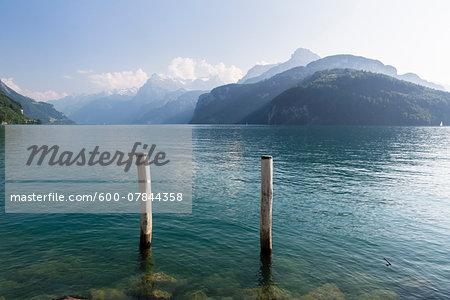 Peaceful view on Lake Lucerne, Brunnen, District of Schwyz, Canton of Schwyz, Switzerland