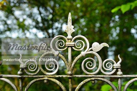 Close-up of Garden Fence, Seeshaupt, Starnberger See, Upper Bavaria, Bavaria, Germany