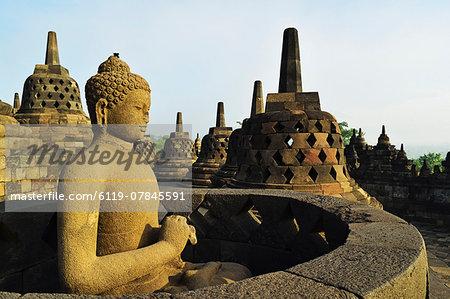 Borobodur, UNESCO World Heritage Site, Kedu Plain, Java, Indonesia, Southeast Asia, Asia