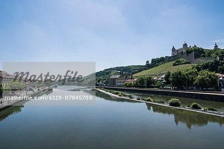 Fortress Marienberg over the main, Wuerzburg, Franconia, Bavaria, Germany