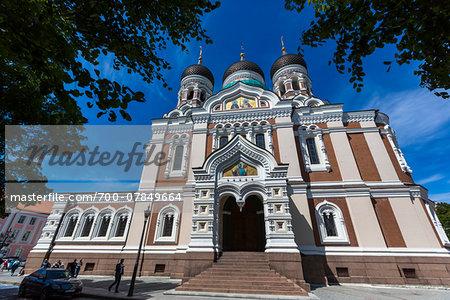 The Russian Orthodox Alexander Nevsky Cathedral, Tallinn, Estonia