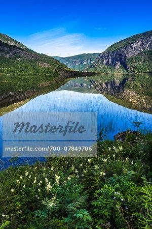 Scenic view of Granvin, Hardanger Region, Hordaland, Western Norway, Norway