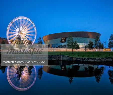 Europe, United Kingom, England, Lancashire, Liverpool, Liverpool Wheel and Echo Arena