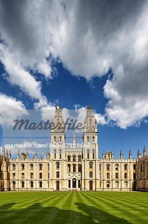 Europe, United Kingom, England, Oxfordshire, Oxford, All Souls College