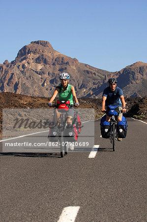 Biking in the Teide National park, Tenerife, Canaries, Spain MR