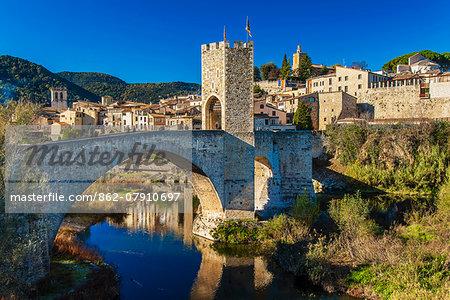 The medieval town of Besalu, Catalonia, Spain
