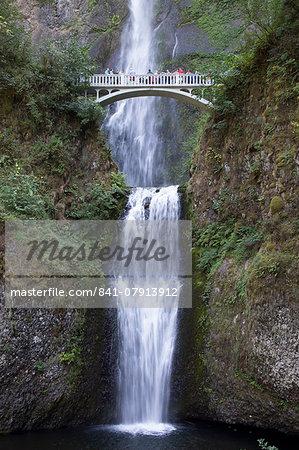 Multnomah Falls, east of Troutdale, Oregon, United States of America, North America