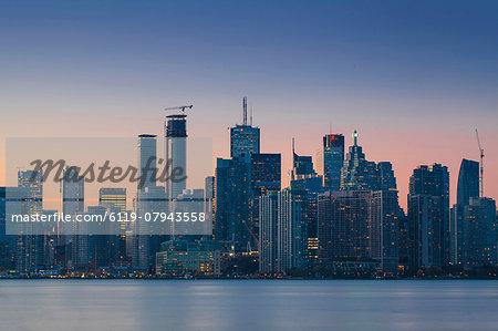 View of city skyline, Toronto, Ontario, Canada, North America