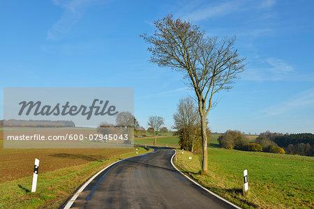 Winding Country Road, Freiensteinau, Vogelsbergkreis, Hesse, Germany